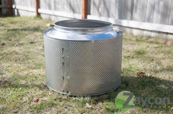 Zaycon Foods-steel drum fire pit