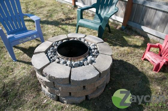 Zaycon Foods- steel drum fire pit